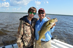 Lake of the Woods has millions of walleyes - giants like this one as well as keepers under 19.5 inches. So the chances you are bringing fish home are pretty good!