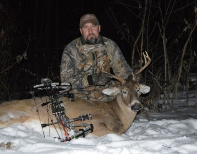 Rick smoked this nice buck with a 41-yard shot.