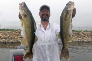 In June, we crushed giant walleye on a Cooling-turned-Mother-Nature Lake.
